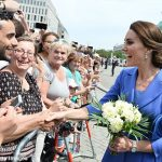 he Duchess shakes hands with a posse of very friendly wellwishers near the Brandenburg Gate