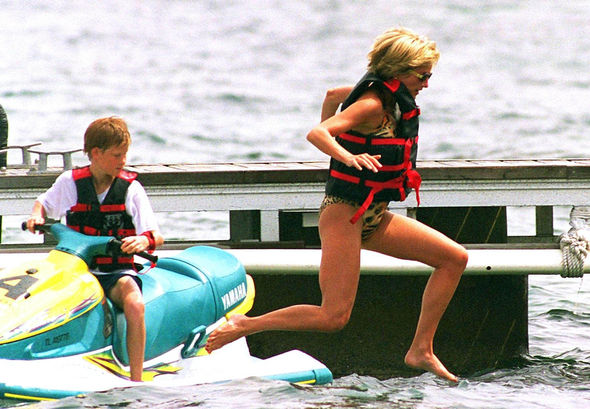 The photographs are now a touching reminder of her last holiday with her boys Photo (C) GETTY