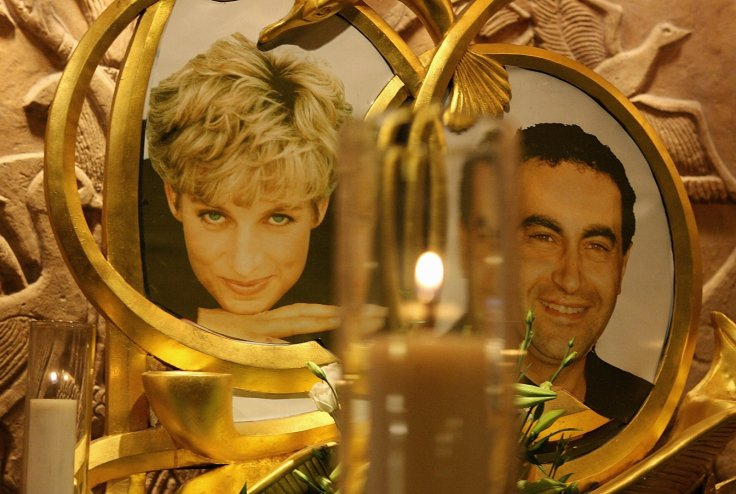 A permanent memorial to Diana Princess of Wales and Dodi al Fayed is pictured in the Harrods store in London