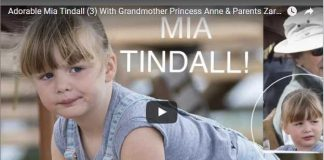 Adorable Mia Tindall 3 With Grandmother Princess Anne Parents Zara Mike Gatcombe Horse Trials