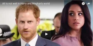 All is not well in Harry and Meghan's world