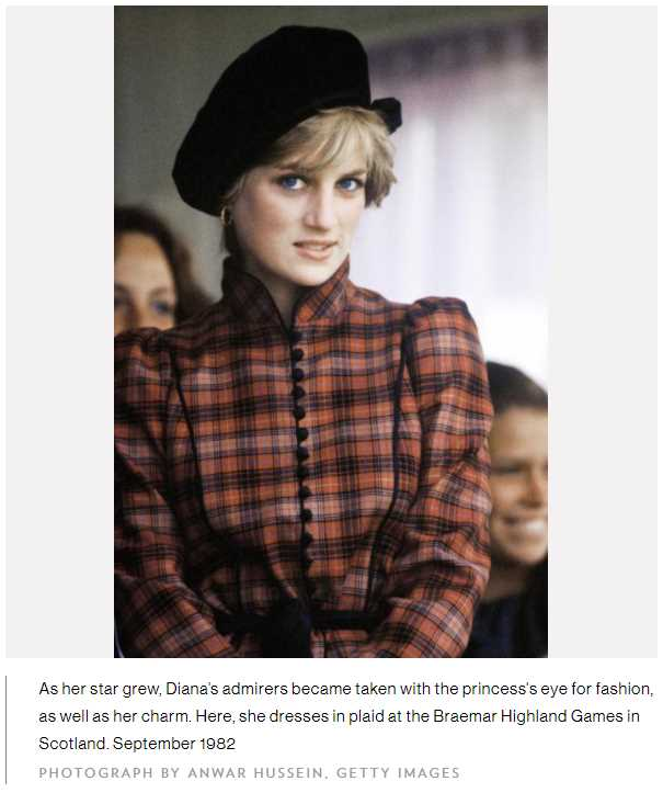 As her star grew, Diana's admirers became taken with the princess's eye for fashion, as well as her charm