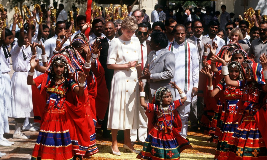 Avanti was the youngest girl to dance for Princess Diana during her visit to India Photo (C) GETTY IMAGES