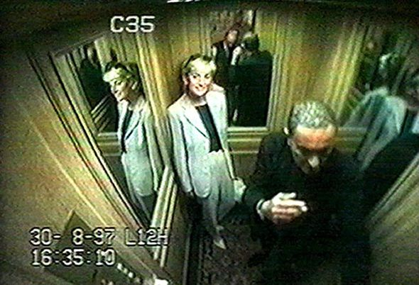 CCTV footage in the Ritz Hotel in Paris captured Diana's final hours Photo (C) PA