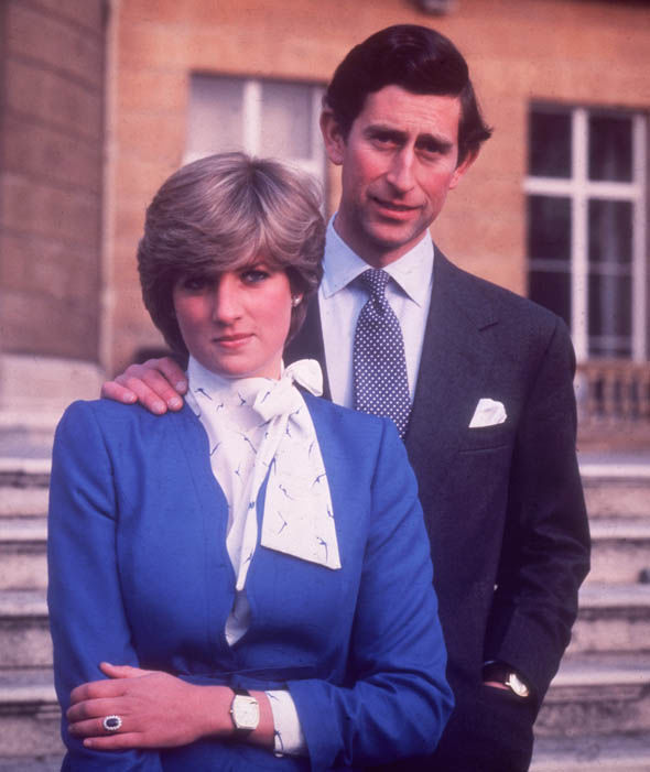 Charles and Diana announce their engagement in 1981 Photo (C) GETTY
