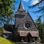 Crathie Kirk in Aberdeenshire is the regular place of worship for the Royal Family when they are holidaying at nearby Balmoral Castle