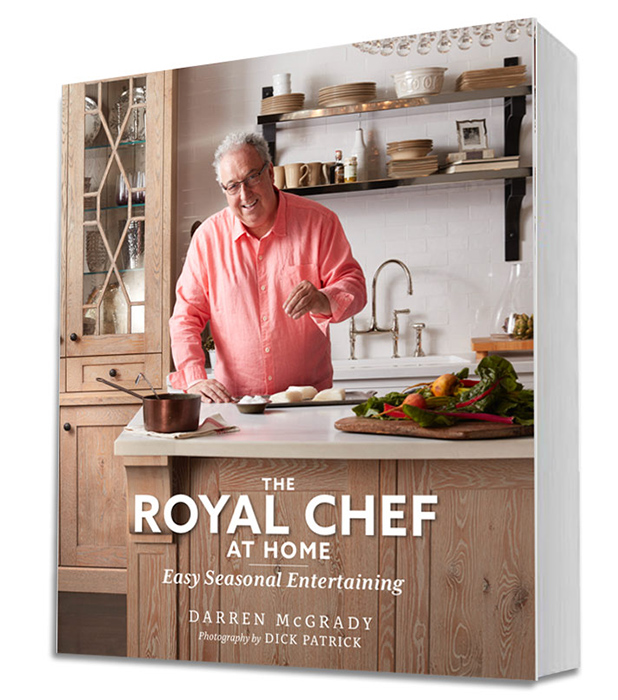 Darren's second cookbook The Royal Chef at Home Easy Seasonal Entertaining is out on 1 November 2017. Photo (C) GETTY
