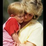 Diana Princess of Wales with Prince Harry on holiday in Majorca Spain. August 10 1987 Photo C GETTY