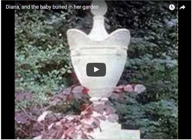 Diana and the baby buried in her garden