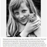 """Diana grew up surrounded by dogs cats hamsters rabbits and horses. """"She loved animals when she was a child"""