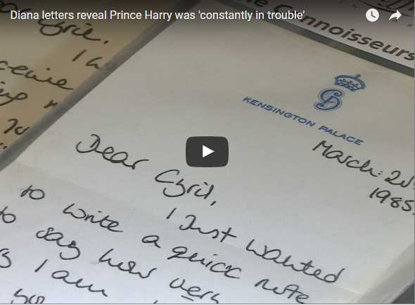 Diana letters reveal Prince Harry was constantly in trouble