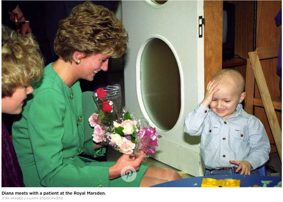 Diana meets with a patient at the Royal Marsden.