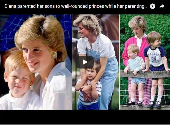 Diana parented her sons to well rounded princes while her parenting skills were very normal