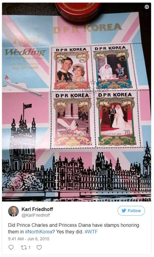 Did Prince Charles and Princess Diana have stamps honoring them Photo (C) TWITTER
