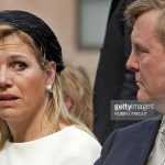 Dutch Princess Maxima cries next Dutch Prince Willem Alexander as they attend on April 29 Photo C GETTY