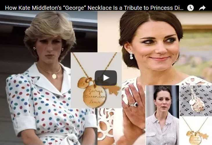"""How Kate Middleton's """"George"""" Necklace Is a Tribute to Princess Diana"""