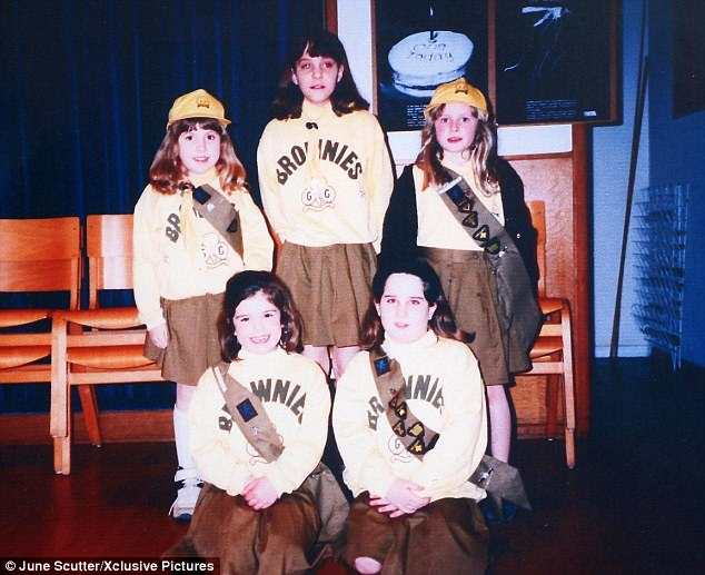 Isobel Kennerley (top left) who was a member of Kate's Brownie pack (top middle) has died after a three-year battle against a brain tumour