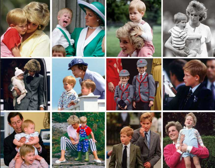 It's not the big events, but the little moments. A candid view on a young Princes growing up with their mother Princess Diana Photo (C) GETTY
