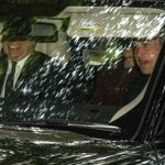 Kate Middleton The Duchess was in the car with Prince William right and Prince Andrew driving Photo C Abermedia Michal Wachucik