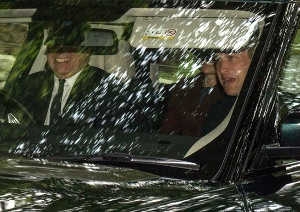 Kate Middleton The Duchess was in the car with Prince William (right) and Prince Andrew driving Photo (C) Abermedia-Michal-Wachucik
