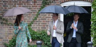 Kate joined Prince William and Prince Harry to pay tribute to Princess Diana Photo C GETTY IMAGES