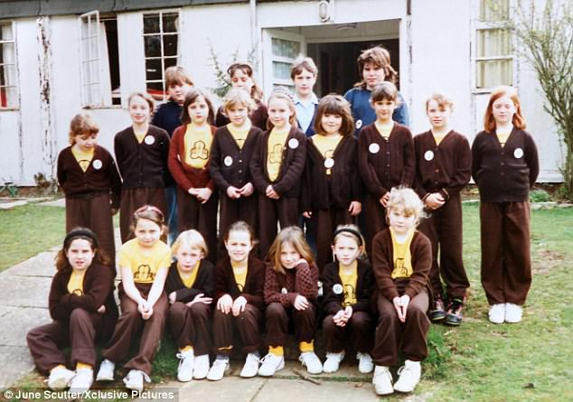 Isobel Kennerley top left who was a member of Kates Brownie pack top middle has died after a three year battle against a brain tumour