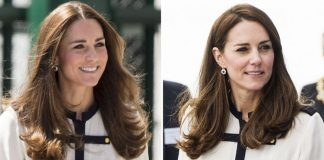 Kate wearing a recycled outfit. Photo Credit Getty Images