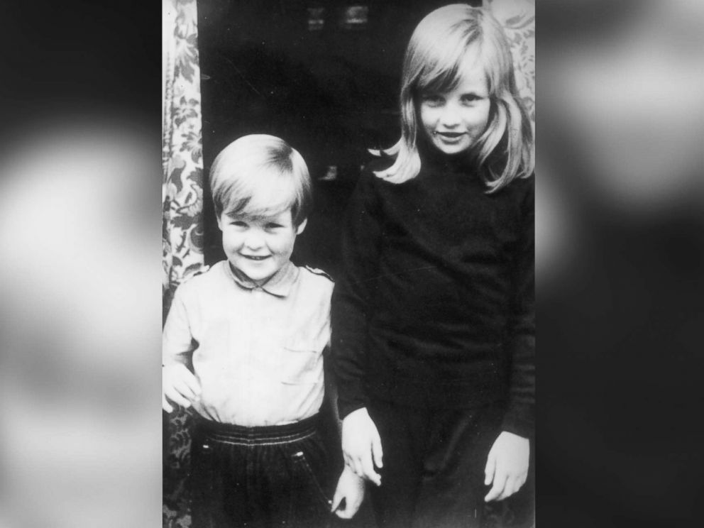 Lady Diana Spencer with her brother Charles (Earl Spencer) in Viscount Althorp, at their home in Berkshire, U.K., Photo (C) CENTRAL PERESS GETTY IMAGES