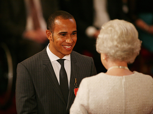 Lewis Hamilton was unaware of the etiquette surrounding dining table conversation Photo (C) GETTY IMAGES