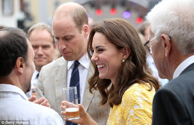 The Duchess of Cambridge was greeting locals on a walkabout in the German town of Heidelberg