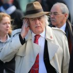 Michael Mansfield QC arrives at Birchwood Park to hear the conclusions of the Hillsborough inquest in Warrington Photo C Christopher Furlong Getty Images