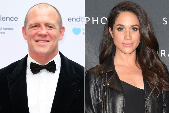 Mike Tindall and Meghan Markle Photo (C) IAN WEST PA IMAGES GETTY IMAGES GEORGE PIMENTEL WIREIMAGE