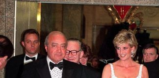 Mohamed Al Fayed pictured at a charity dinner with Princess Diana in 1996 was determined that his son Dodi should marry her