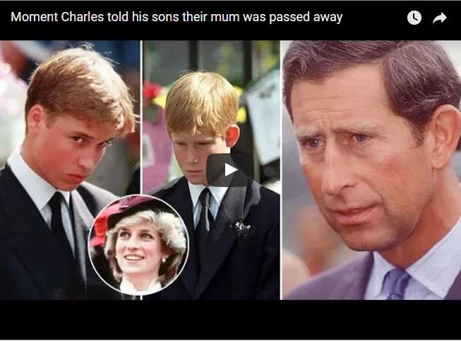 Moment Charles told his sons their mum was passed away