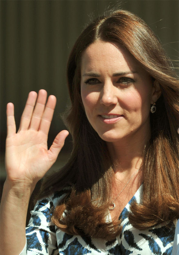 One signature the Duchess of Cambridge is allowed to have is the one worn around her neck Photo (C) GETTY