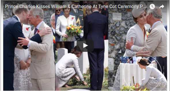 Prince Charles Kisses William Catherine At Tyne Cot Ceremony Passchendaele 100