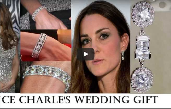 Prince Charles Presented Kate Middleton With Diamonds Earrings Bracelet Jewels Set As Wedding Gift