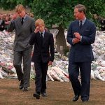 Prince Charles Prince William and Prince Harry on Diana Funeral Photo C AP
