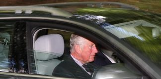 Prince Charles who arrived at Crathie Church this morning without Camilla....see story Pic Peter Jolly