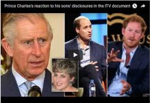 Prince Charles's reaction to his sons' disclosures in the ITV document