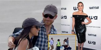 Prince Harry hugs girlfriend Meghan Markle on romantic African holiday for her 36th birthday Photo (C) YOUTUBE