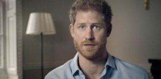 Prince Harry speaking on the BBC documentary on Diana Photo (C) BBC