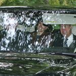 Prince William Duchess Kate and Prince Andrew looked in good spirits on the way to church