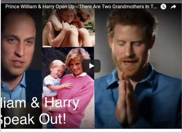 Prince William Harry Open Up There Are Two Grandmothers In Their Lives On Princess Diana