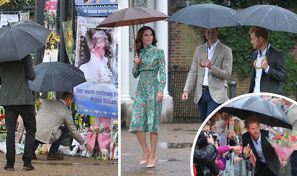 Prince William and Kate attend Princess Diana's memorial garden Photo (C) REUTERS