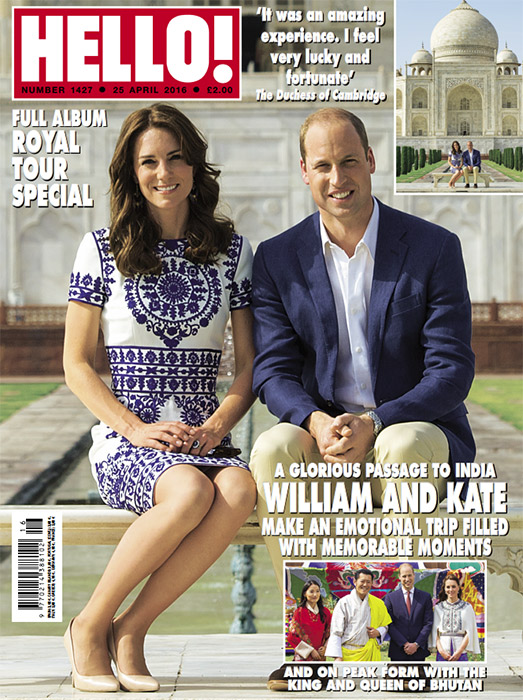 Prince William and Kate visited India in April 2016 Photo C HELLO MAGAZINE