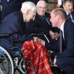 Prince William chats to veteran Ken Wilkinson last month at RAF Coningsby Image Anna Draper
