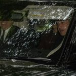 Prince William sat up front next to uncle Prince Andrew who took the drivers seat meanwhile Kate could be seen sitting in the back on Sunday