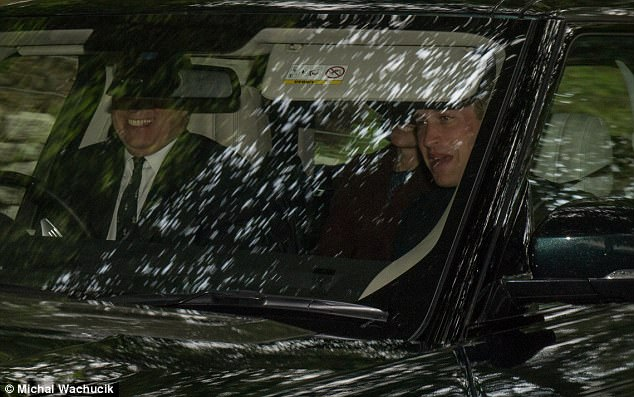 Prince William sat up front next to uncle Prince Andrew who took the drivers seat, meanwhile Kate could be seen sitting in the back on Sunday