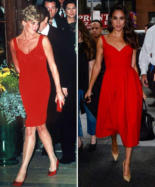 Princess Diana and Meghan Markle Actress has worn many similar looks to Diana Photo (C) GETTY
